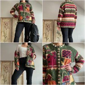 🍉 Tiara, Vintage Home & Hearth Autumnal Cardigan